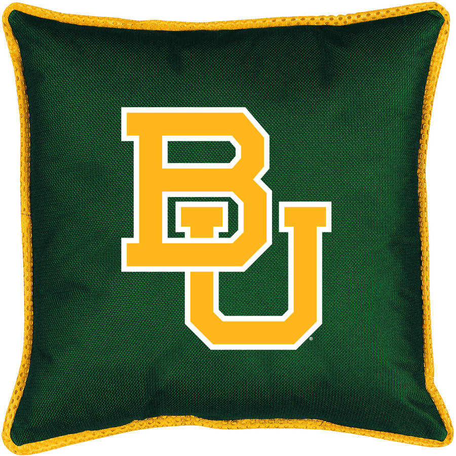 NCAA Baylor Sidelines Toss Pillow