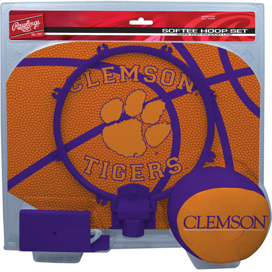 Rawlings NCAA Slam Dunk Softee Hoop Set Clemson University Tigers