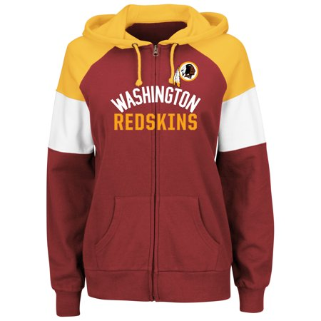 Majestic Hat (Washington Redskins Majestic Women's Hot Route Full-Zip Hoodie -)