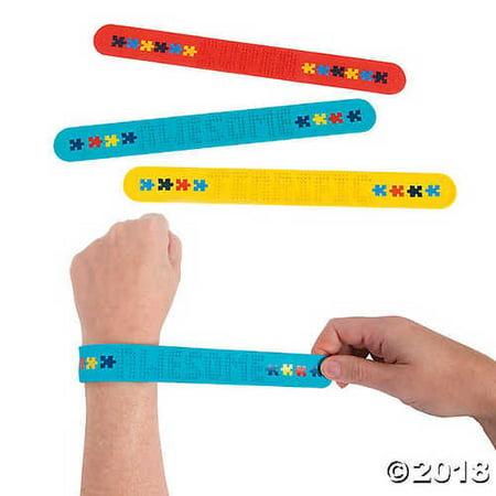 3D Autism Awareness Slap Bracelets (Autism Charms)