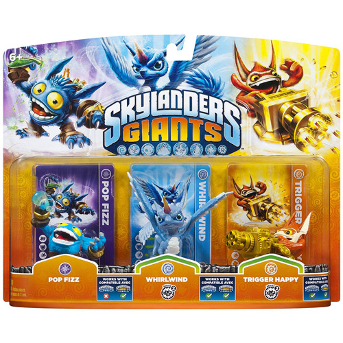 Skylanders Giants: Triple Pack #1 (Whirlwind, Trigger Happy, Pop Fizz - Universal)