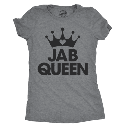 Womens Jab Queen Tshirt Cute Boxing Fitness Workout Punch Tee For