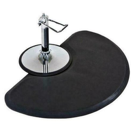 Salon Floor Mat for Hair Stylist Stand up Anti Fatigue Matt - 3 ft. x 5 ft. Semi Circle 1/2'' Thick,Perfect for Barber Beauty Styling