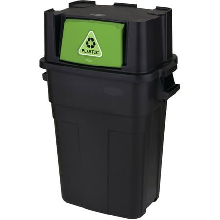 Rubbermaid 30-Gallon Flip-Door Stackable Recycle (Put The Recycle Bin In The Recycle Bin)