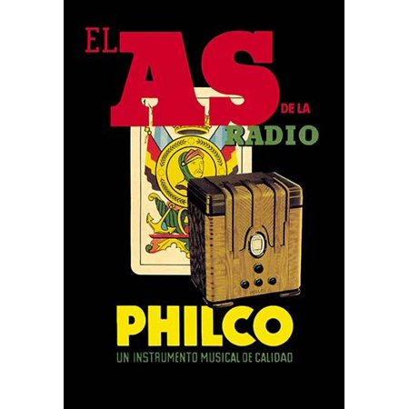 Radio Advertisement for Philco after Atwater Kent with Playing Card Behind  Philco was a pioneer in battery radio and television production  Philco built many iconic radios and TV sets including the c ()