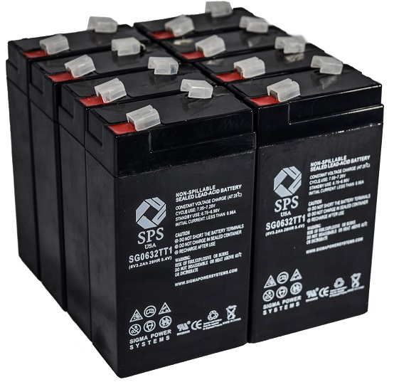 SPS Brand 6 V 3.2 Ah TT1 Replacement Battery with Terminal T1 for Siemens 341 (8 PACK) by