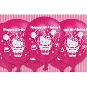 "Hello Kitty Latex Pink Birthday Party Balloons, 12"", 6ct"