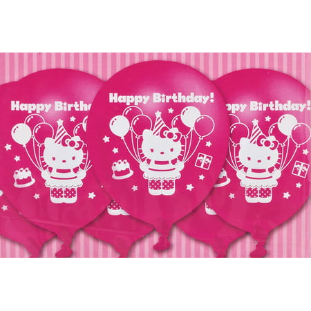 Hello Kitty Latex Pink Birthday Party Balloons 12