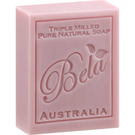 Bela Soap 100% All Natural Vegan 3-pack French Milled Sweet Pea Scented Soap Bar From Australia Pink French Milled Soap