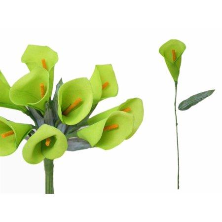 (Efavormart 60 pcs Single Stem Artificial Mini CALLA Lillies - 17 Colors)