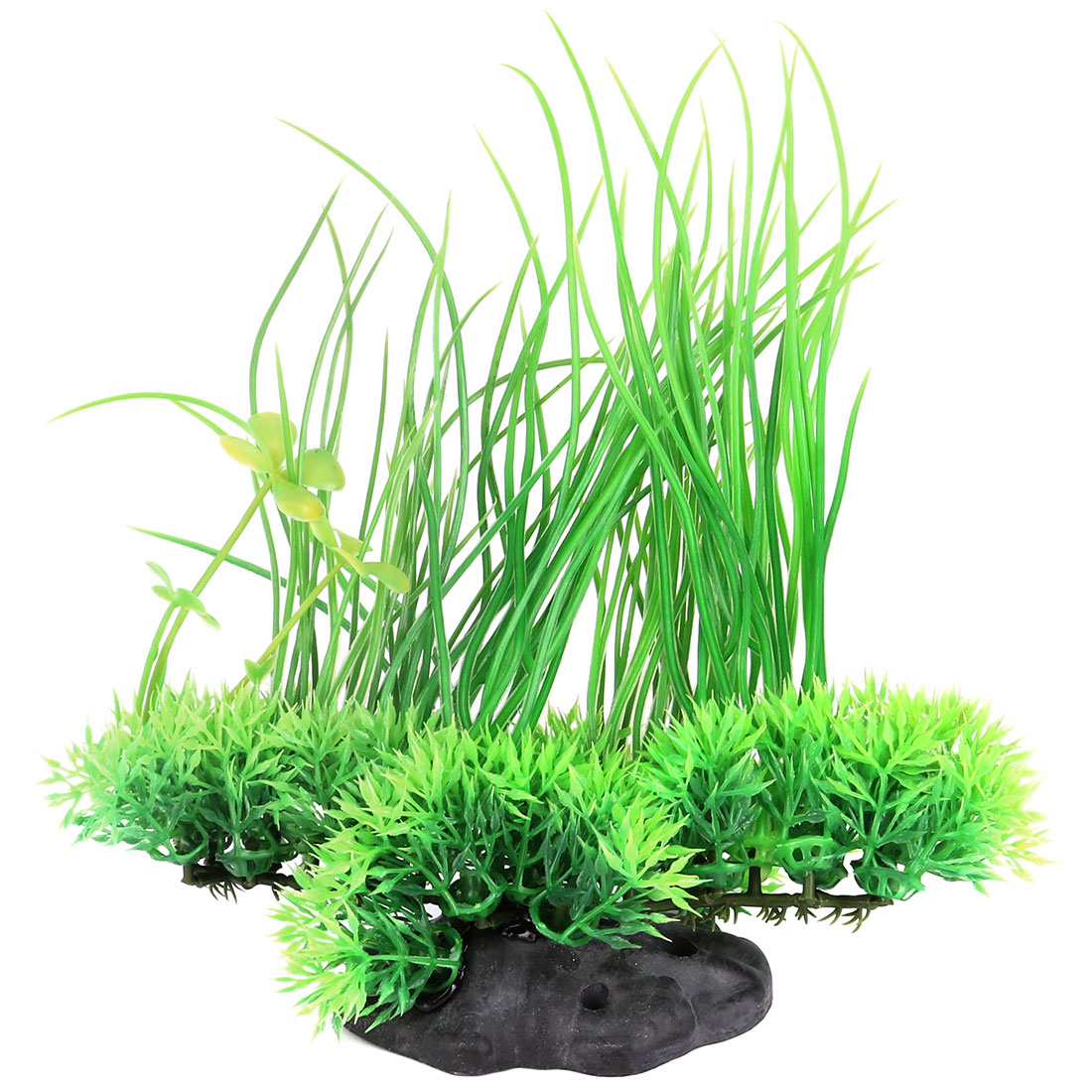 Aquarium Plastic Emulational Artificial Plant Grass Decoration Green 20cm Height