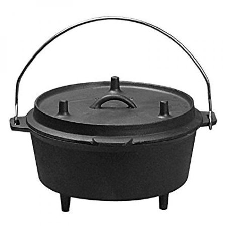 Universal Housewares Pre-Seasoned Cast Iron Camping 5-Quart Dutch Oven