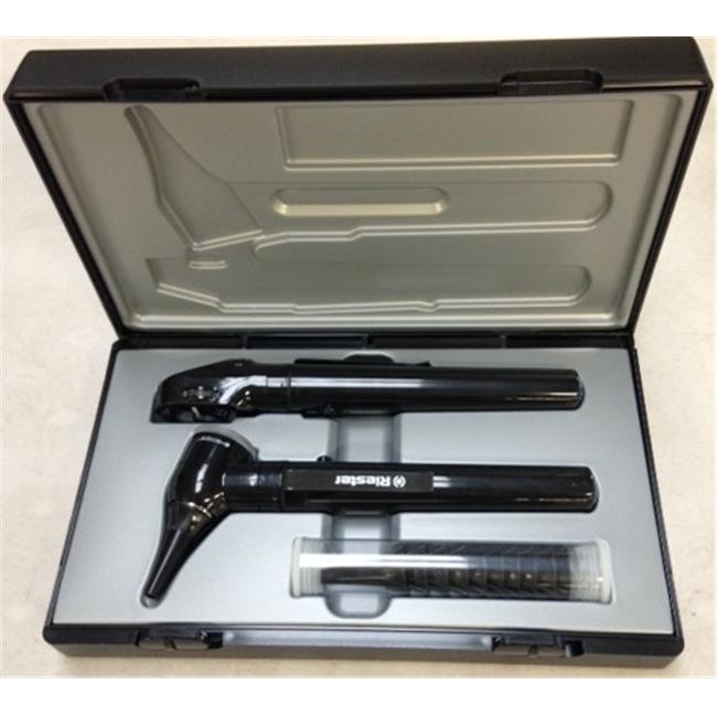Riester 2131-203 3.7V LED E-Scope F.O. Otoscope & Ophthalmoscope Set, Black