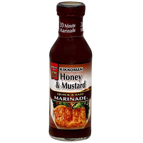 Kikkoman Quick & Easy Honey & Mustard Marinade, 14 oz (Pack of 12)