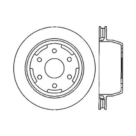 StopTech 127.66045L StopTech Sport Rotors; Drilled And Slotted; Rear Left;12.99 in. Dia.; 3.78 in. Height; w/28.5 mm Min. Thick Disc; 285 Mm Rear Rotor