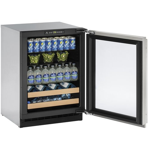 U-Line 2000 Series Reversible Stainless Steel 24-inch 4.9 cu. ft. Undercounter Beverage Center