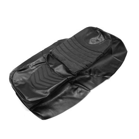 Black Waterproof Faux Leather Motorcycle  Saddle Cover Cushion for (Yamaha Motorcycle Leather)