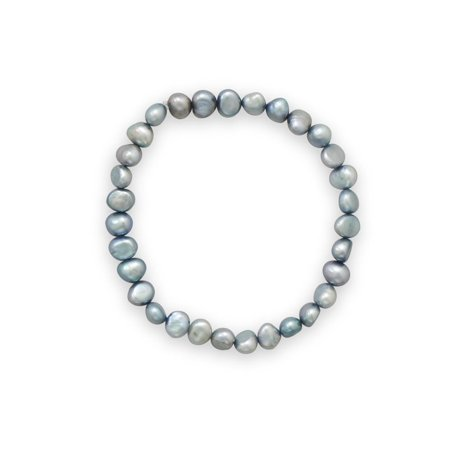 Sage Green Dyed Cultured Freshwater Pearl Stretch Bracelet