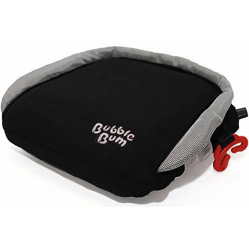 BubbleBum Booster Seat, Black and Silver