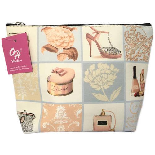 OH Fashion Travel Cosmetic Bag Makeup case organizer toiletry bag Fashion medium size handbag 1pc