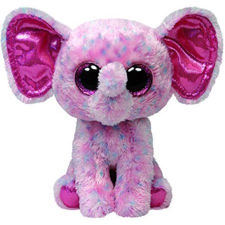 "TY Beanie Boos -Pink Elephant Ellie (Glitter Eyes) Small 6"" Plush"