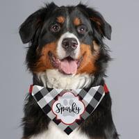 Gingham Personalized Dog Bandana