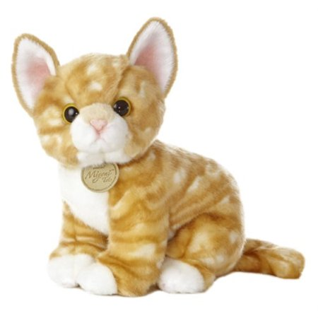 Silver Tabby Kitten (Aurora Miyoni 10 inch Orange Tabby Kitten Plush Cat)