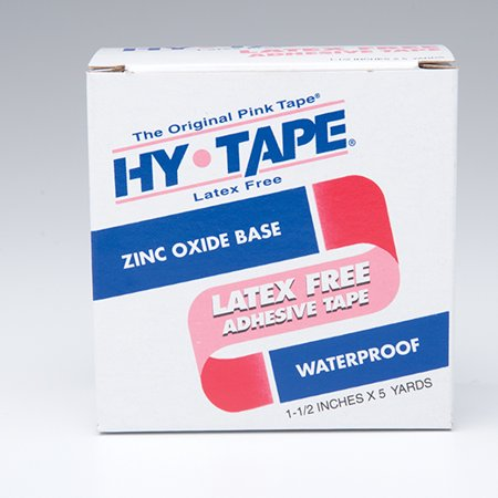 Medical Tape Hy-Tape Waterproof Zinc Oxide-Based Adhesive 1-1/2 Inch X 5 Yards NonSterile, Model (Beaded Tape)