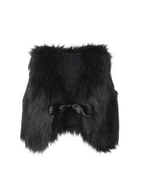Infant Baby Girl Soft Faux Fur Vest Coat Jacket Outwear Toddler Baby Warm Winter Waistcoat
