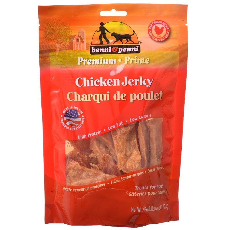 Benni & Penni Benni and Penni Chicken Jerky Bites for Dogs 6 Ounce