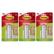3M Command 17047 Universal Picture Hanger Large Sticky Sawtooth Nail Hanger Damage Free Hanging Holds 5 Pounds 1 Hanger 2 Large Strips 2 Sets Mini Strips Per Pack, 3-Pack