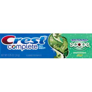 Crest Complete Whitening + Scope Toothpaste, 0.85 Oz