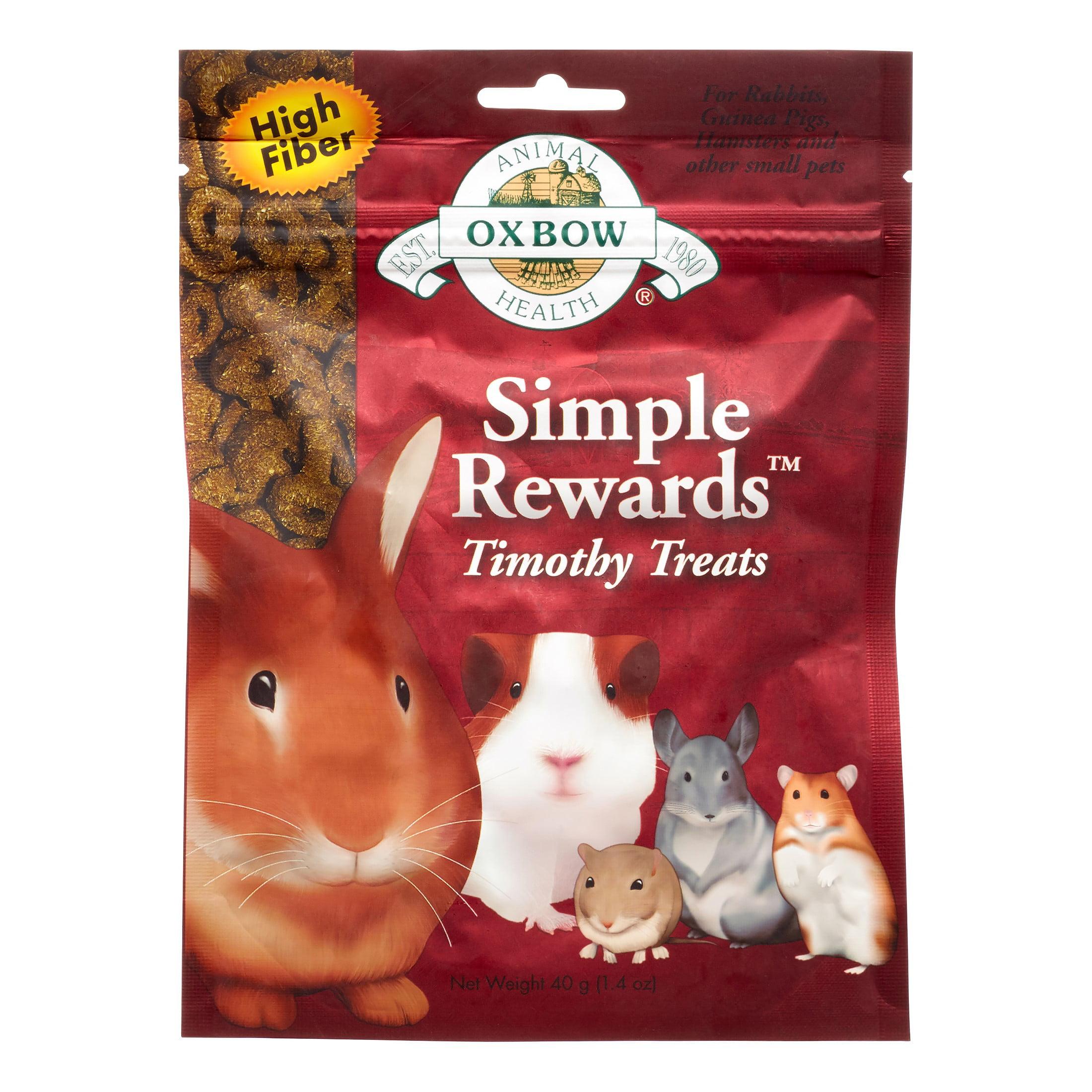 Oxbow Simple Rewards Small Animal Treats, Timothy Treats, 1.4 oz.