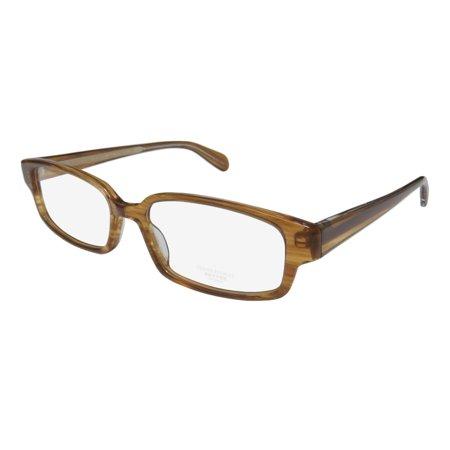 New Oliver Peoples Danver Mens/Womens Designer Full-Rim Light Brown Hot Fashion Accessory Glasses Frame Demo Lenses 52-17-140 (Oliver Peoples Clear Frame Glasses)