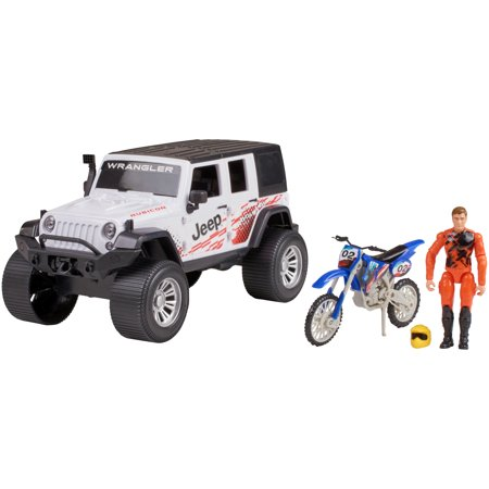 Adventure Force Outdoor Adventure Jeep with Trail Bike Vehicle Set