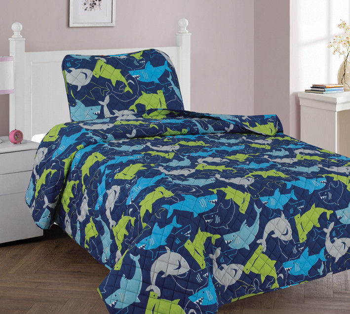 New Personalized Home Coverlet Custom Shark Bedding Bedspreads Comforter Quilt