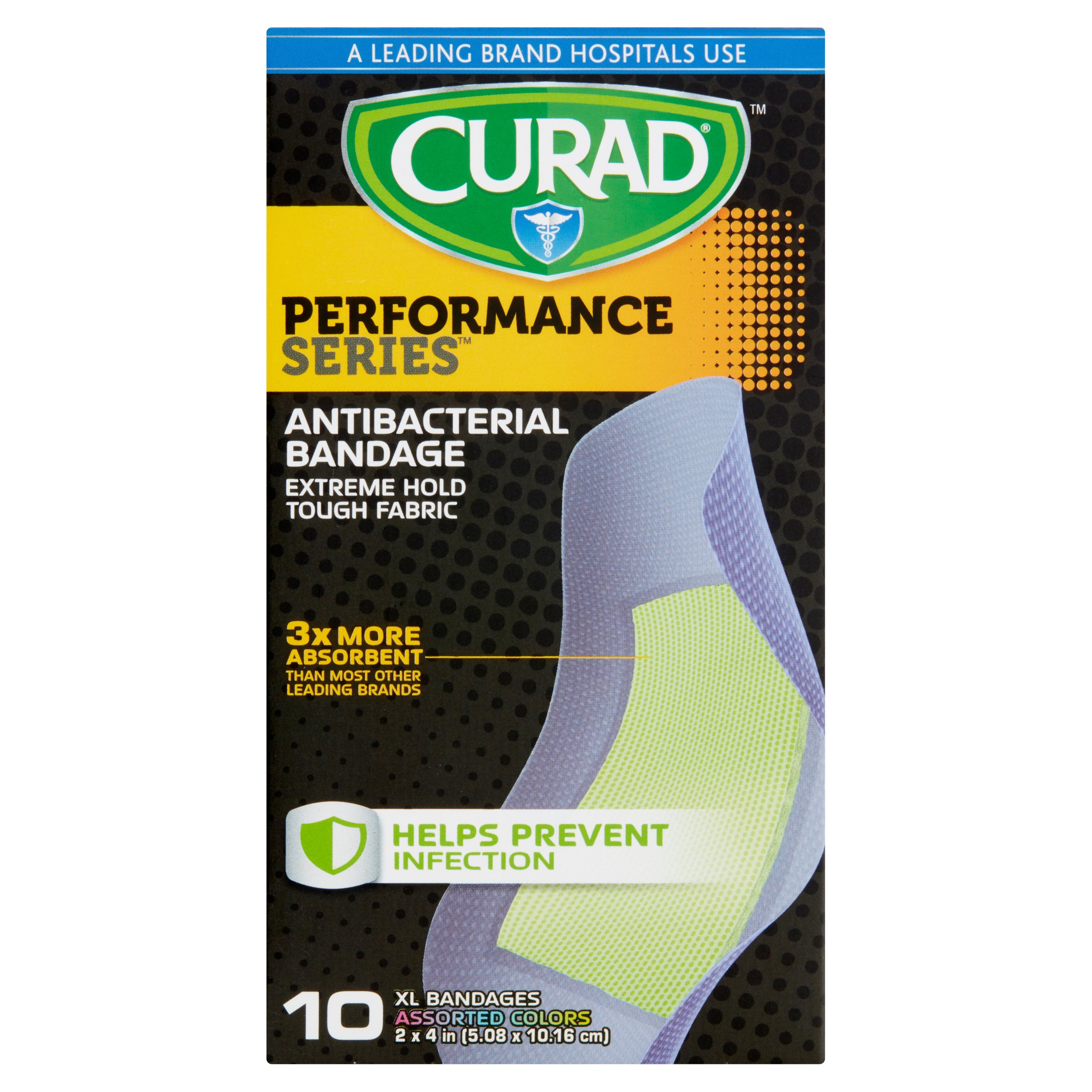 Curad Performance Series XL Bandages, 10 count
