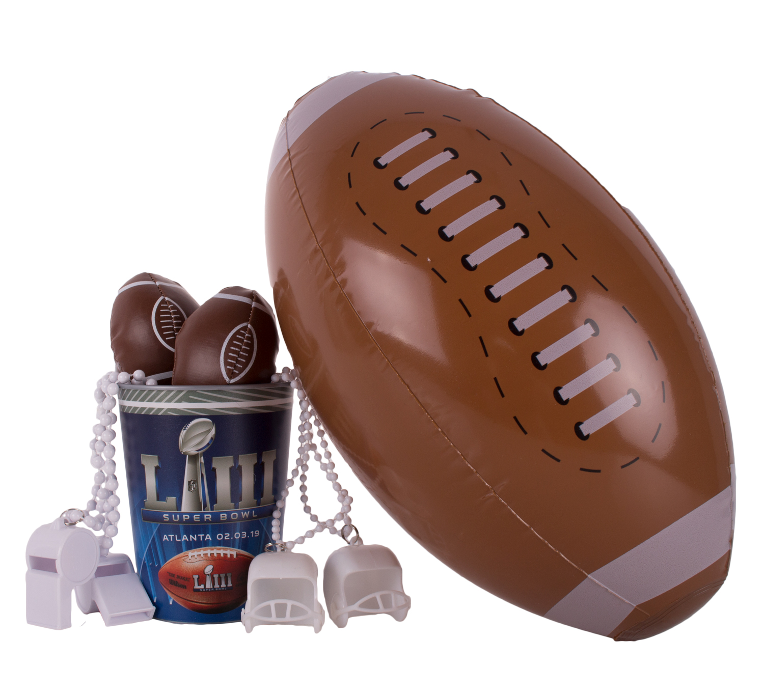 Super Bowl 53 Football Fan Tailgate Favor Cup 8pc 1 Person Party Pack