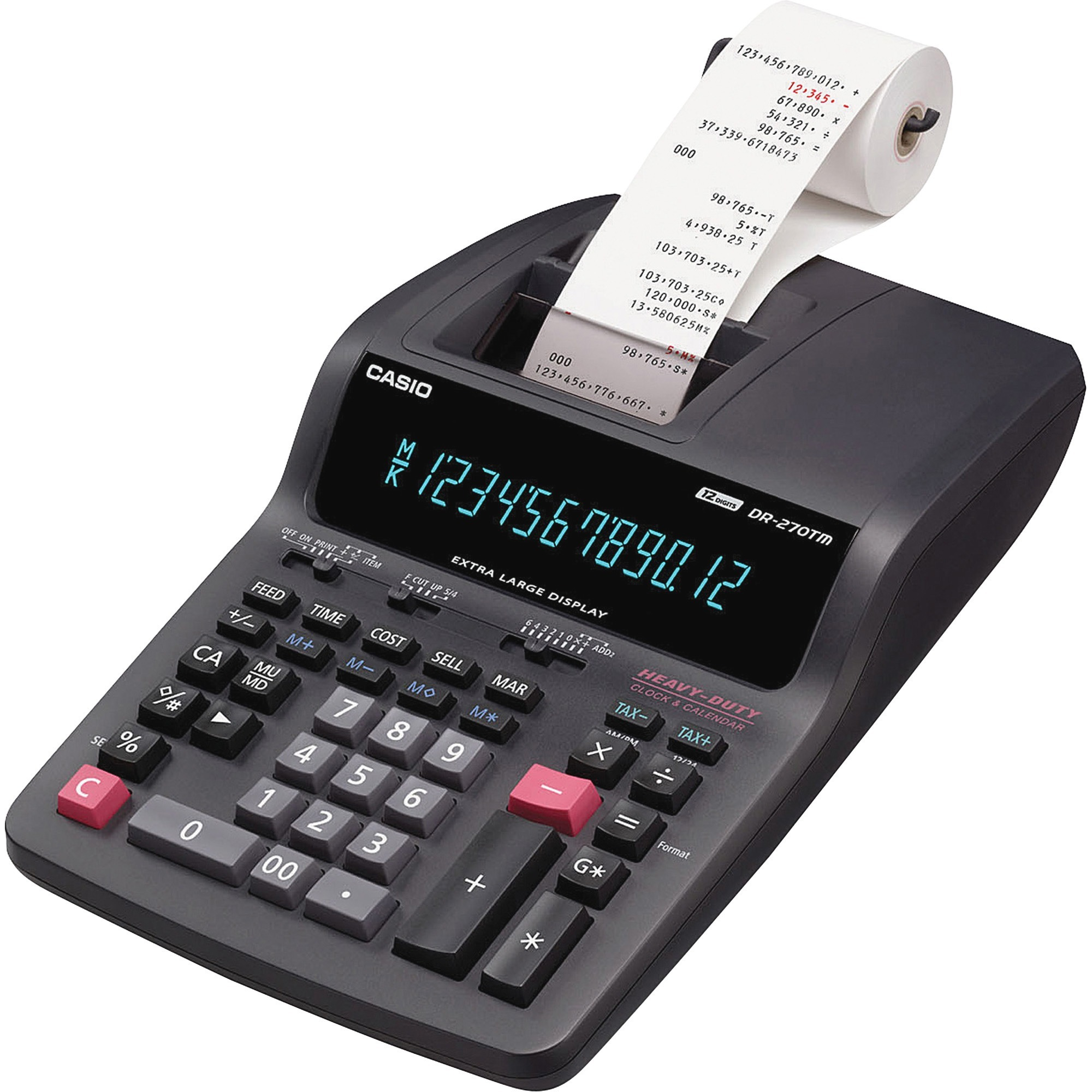 Casio DR-270TM 12-Digit Tax/Exchange Printing Calculator