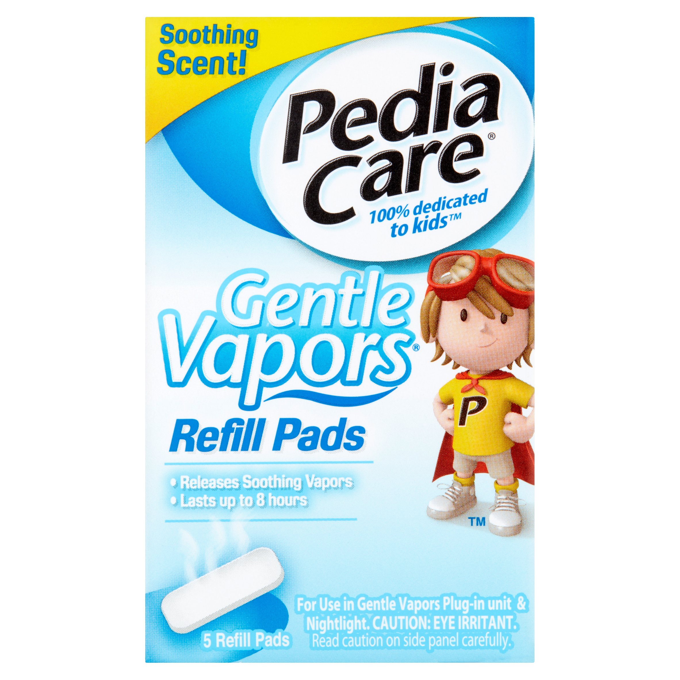 Pedia Care Gentle Vapors Refill Pads, 5 count