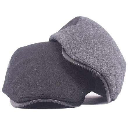 Heepo Men Women Fashion Peaked Cap Flat Hat Beret Hats Newsboy Country Warm Golf
