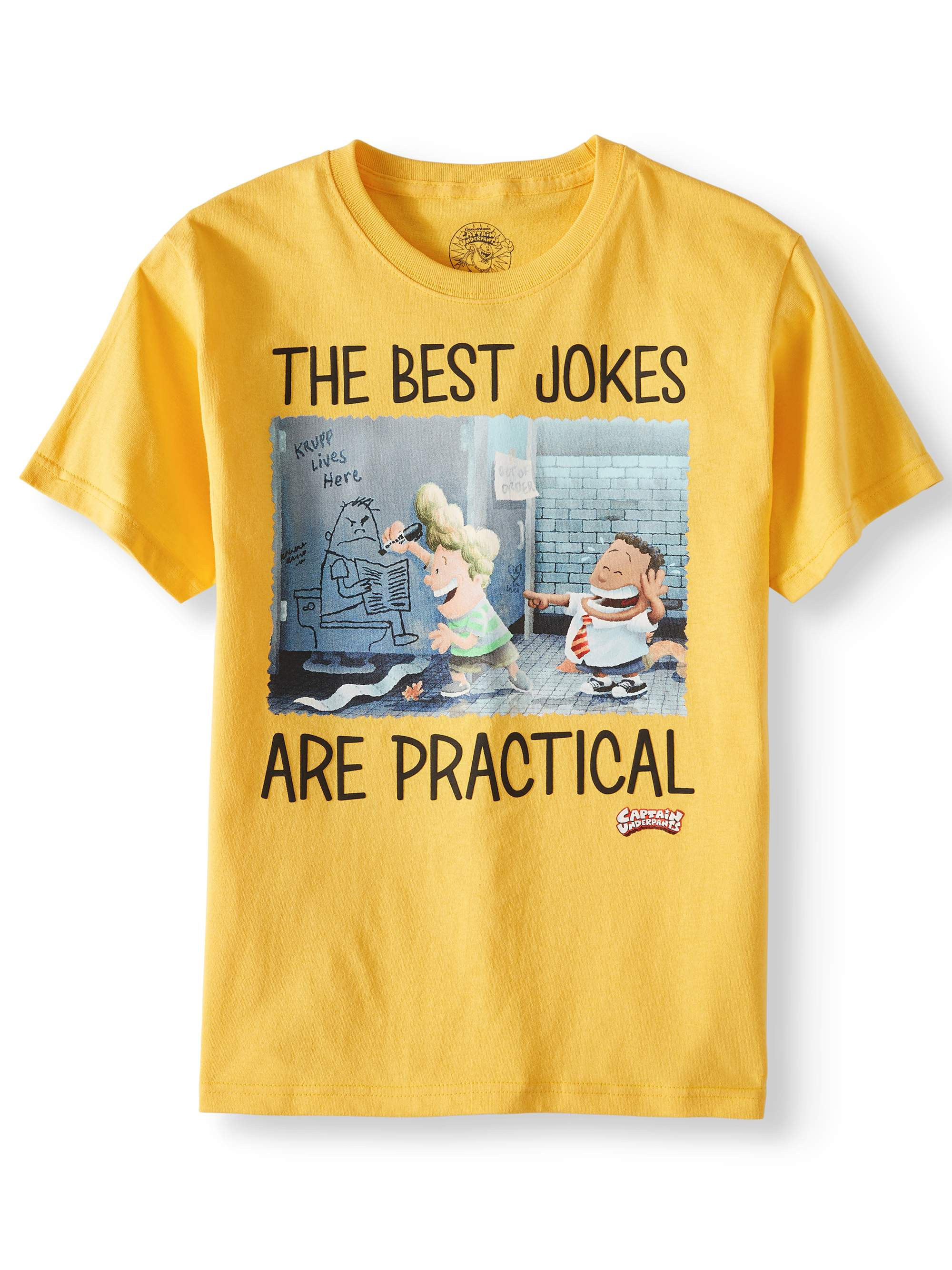 """The Best Jokes Are Practical"" Short Sleeve Graphic Tee (Little Boys & Big Boys)"