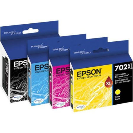 Epson 702XL High-capacity Black/Standard Multi Color Ink Cartridges for WF-3720 & WF-3733