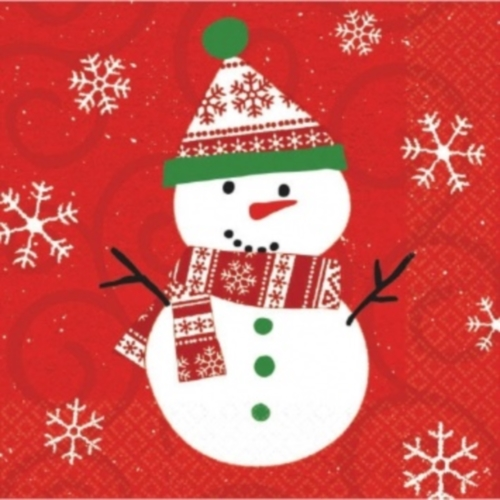 Very Merry Snowman Christmas 20 Ct Luncheon Lunch Napkins