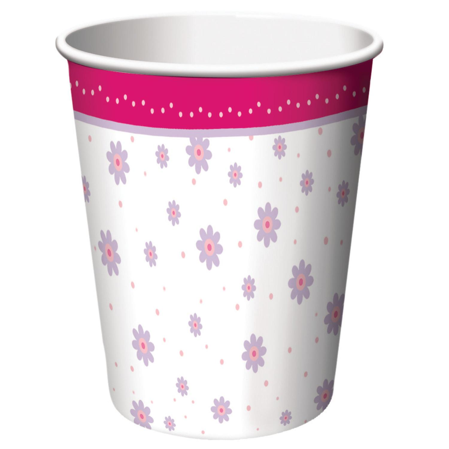 Club Pack of 96 Tutu Much Fun Disposable Paper Hot and Cold Drinking Party Cups 9oz.