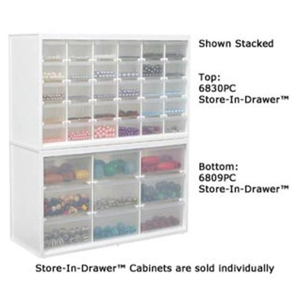 Crafting Store (Flambeau 6830PC Store In Drawer Cabinet- White with 30 Transparent)