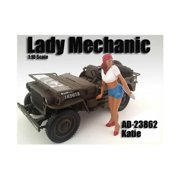 American Diorama 23862 Lady Mechanic Katie Figure for 1-18 Scale Models