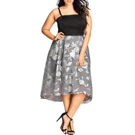 City Chic Womens Plus Midi Party Cocktail Dress - Party C Ity