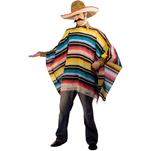 Serape and Sombrero Adult Halloween Costume - One Size