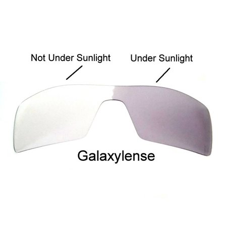 Galaxy Replacement Lenses for Oakley Oil Rig Photochromic Transition Change To Darker Grey (Oakley Oilrigs)